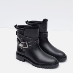 Bottines motard, Zara, 89,95 euros