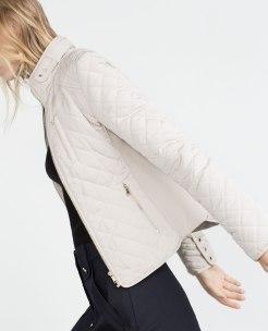 Blouson matelassé, Zara, 69,95 euros