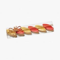 Réglettes calisson rouge et or, Leonard Parli, 7,10 euros