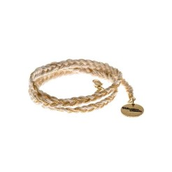 Bracelet Max or et écru, Monsieur Simone, 44 euros