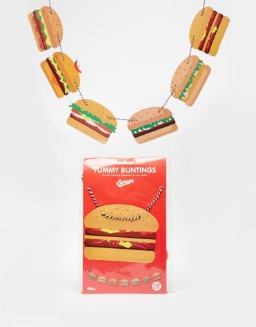 Banderole motif hamburger, Doiy (Asos), 11,99 euros
