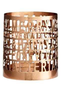 Photophore en métal, H&M Home, 4,99 euros