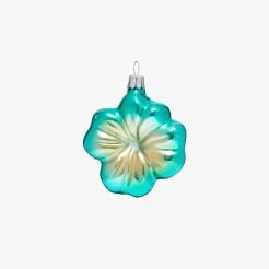 Boule fleur turquoise, Le Bon Marché, 8 euros