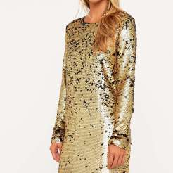Mini robe escape à sequins, Minkpink, 60 euros