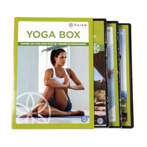 Coffret 3 DVD Yoga Box Gaiam, Nature et Découvertes, 19,99 euros