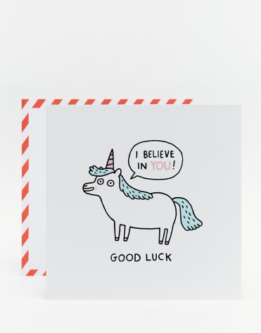 Carte motif licorne, Gemma Correll, Ohh Deer (Asos), 4,49 euros