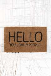 Paillasson Hello, Urban Outfitters, 35 euros