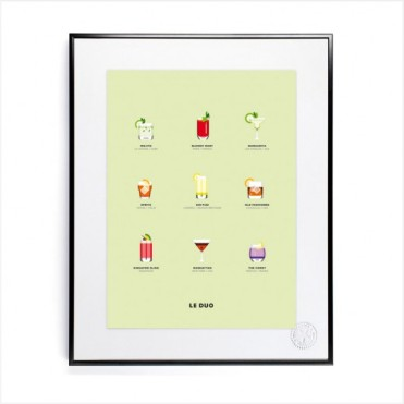 Affiche le Duo Cocktail, Image Republic, 59 euros