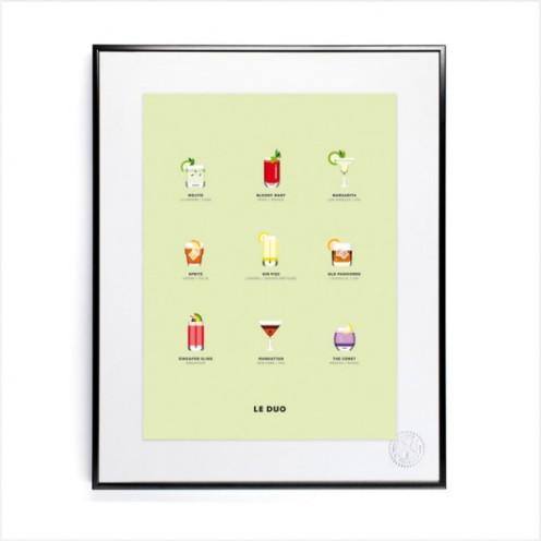 Affiche le Duo Cocktail, Image Republic, 59 euros