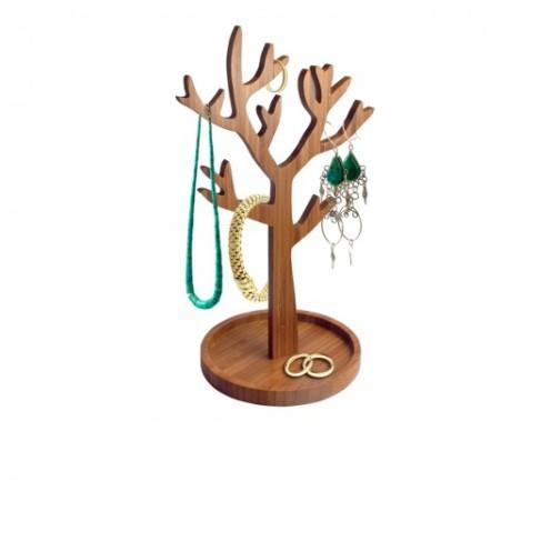 Arbre à bijoux en bois, Fleux, 21,90 euros