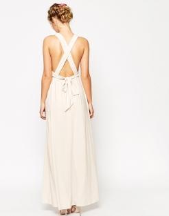 Maxi-robe froncée à bretelles doubles, Asos Wedding, 37,99 euros