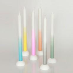 Bougies Tie & Dye, Fleux, 3,90 euros l'une