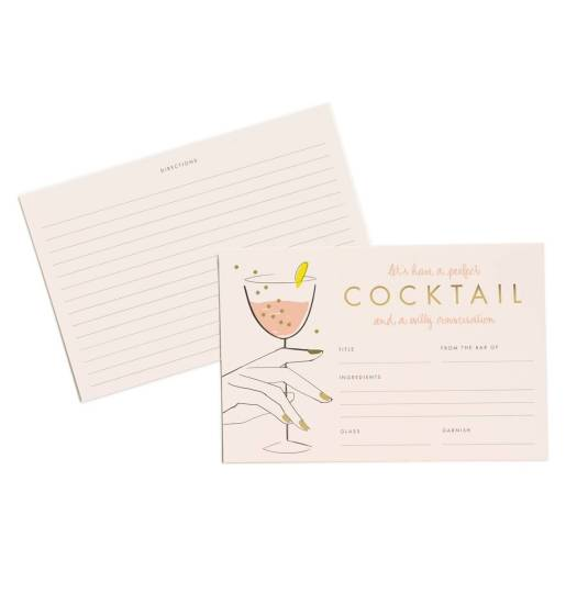 Set de 12 cartes Perfect Cocktail, Garance Doré, Rifle Paper Co, 12 dollars