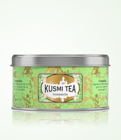 Thé Genmaïcha, Kusmi Tea, boite métal 100g, 16,60 euros