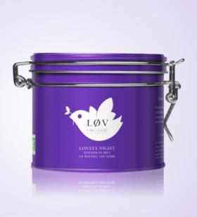 Infusion Lovely Night, Lov Organic, boite métal 100g, 12,90 euros