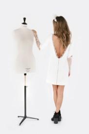 Robe courte manche en dentelle Miss Jagger, La Malle de la Mariée, 790 euros