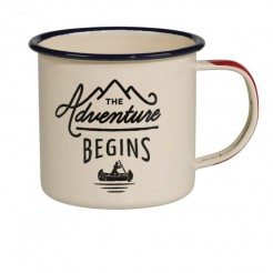 Mug en émail The Adventure, Fleux, 10,90 euros