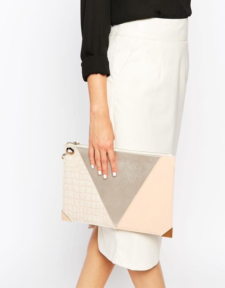 Pochette à motif géométrique, New Look, 9,99 euros