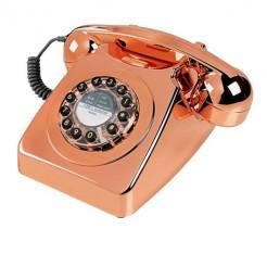Téléphone metallic, cuivre, Wild and Wolf, 79,90 euros