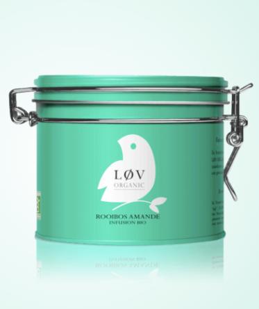 Infusion Rooibos Amande, Lov Organic, boite métal 100g, 11,90 euros