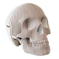 Tête de mort en carton blanc, Fleux, 49,90 euros