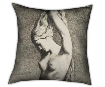 Coussin imprimé Vénus Anadyomène d'après Chasseriau Théodore, Muzeo, 62,83 euros