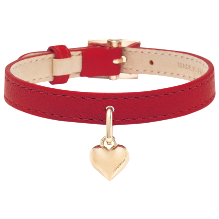 Bracelet Saint-Valentin cerise, Longchamp, 55 euros