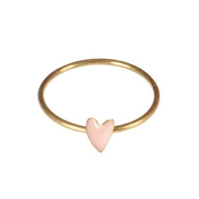 Bague Cœur rose poudré, Titlee sur Minimall.fr, 26,60 euros