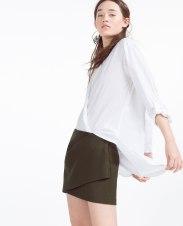 Mini jupe drapée, Zara, 39,95 euros