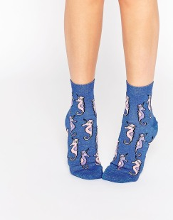 Socquettes pailletées motif hippocampe, Asos, 4,99 euros