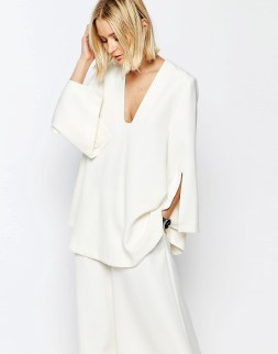 Tunique à encolure en V carrée, Asos White, 77,99 euros
