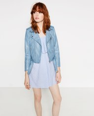 Blouson en similicuir, Zara, 49,95 euros