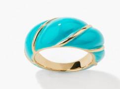 Bague Diana torsadée turquoise, Aurélie Bidermann, 210 euros