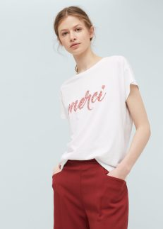 T-shirt coton message, Mango, 15,99 euros