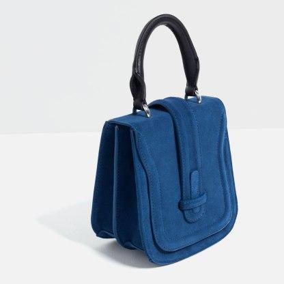 Mini sac bandoulière en cuir, Zara, 49,95 euros