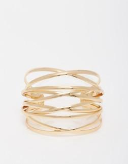 Bracelet manchette effet cage doré, River Island, 13,49 euros