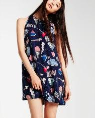 Robe évasée imprimée, Zara, 29,95 euros