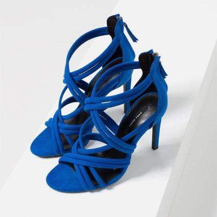 Sandales à talons et brides, Zara, 29,95 euros