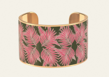 Manchette Scott kaki et rose framboise, Bangle Up, 90 euros