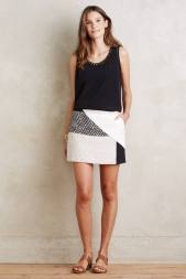 Jupe culotte patchwork Codie, Elevenses (Anthropologie) 127 euros