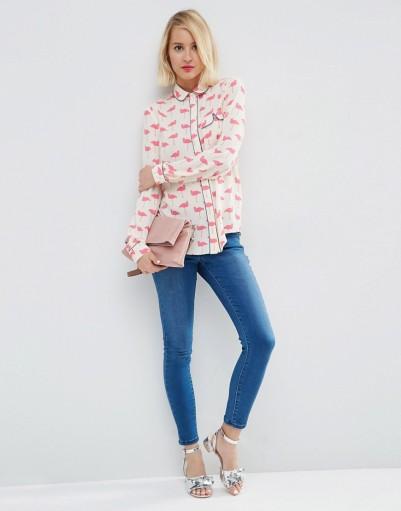 Flamingo pyjama blouse, Asos, 48 euros