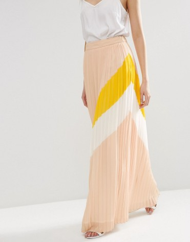 Pleat Maxi Skirt with abstract color, Asos, 68 euros