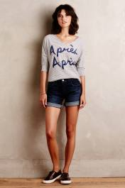 Short en jean à revers, Pilcro (Anthropologie) 84 euros