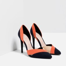 Escarpins à talons tricolores, Zara, 39,95 euros