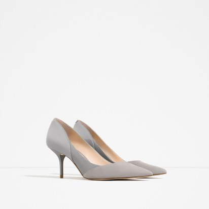 Chaussures à talon moyen, Zara, 49,95 euros