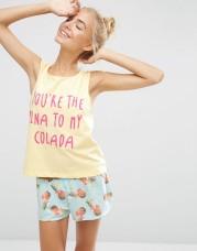 Débardeur et short de pyjama, Asos, 25,99 euros