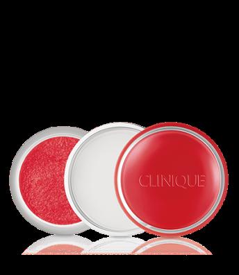 Gommage et baume à lèvres, Clinique, 24 euros