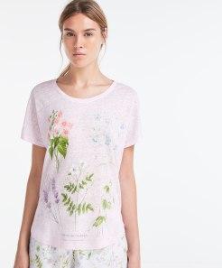 T-shirt lin jardin, Oysho, 22,99 euros
