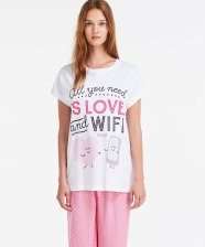 T-shirt Mr Wonderful Love, Oysho, 16,99 euros
