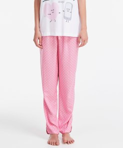 Pantalon imprimé mini cœurs, Oysho, 19,99 euros